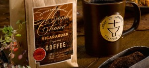 Coffee and coffee mug available from Gethsemani Farms.