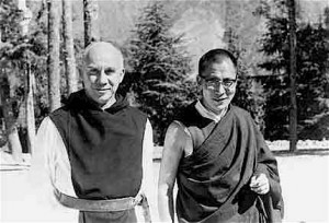 Merton in later years with the young Dalai Lama.