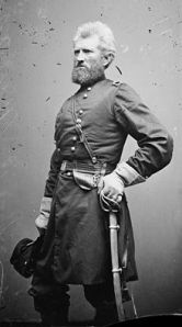 Robert H. Milroy, commander of the Ninth Indiana Volunteers. Photo by Matthew Brady.