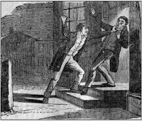 Jereboam Beauchamp murders Colonel Solomon Sharp to avenge the honor of his wife, Anna Cooke Beauchamp. The murder was the subject of a number of literary treatments, including works by Edgar Allan Poe and William Gilmore Simms.