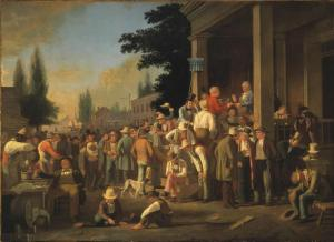"""George Caleb Bingham's """"County Election."""" Bingham is famous for his portraits of 19th century American life."""