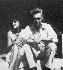 Peggy Baird (Cowley) with Hart Crane.