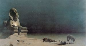 "Luc-Olivier Merson's ""Rest on the Flight Into Egypt"" (1880)."