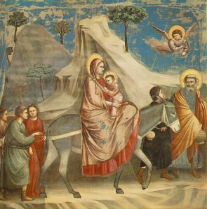 "Giotto di Bondone's ""The Flight Into Egypt"" (c. 1305-06)."