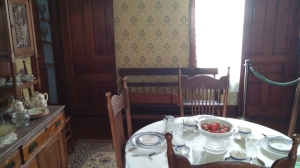 Dining room in Dunbar house.