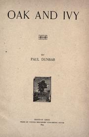 Oak and Ivy, 1892.