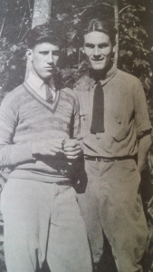 Jesse Stuart with fellow Appalachian writer--and later civil rights activist--Don West during their time at LMU. This is another photo of a photo from the Jesse Stuart Foundation edition of