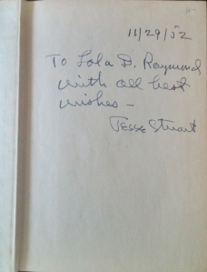Stuart's autograph inside my copy of the
