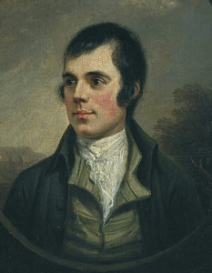 Portrait of Robert Burns by Alexander Naysmith.