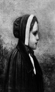 A rendering of Bridget Bishop, the first to be executed of the alleged Salem witches.