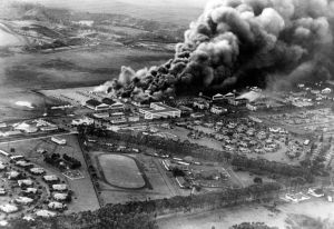 Attack on Wheeler Field: December 7, 1941.