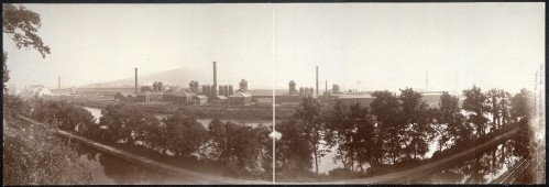 An example of American industry; Bethlehem Steel around 1896.