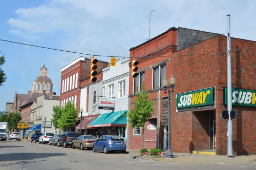 Scene in Martins Ferry in recent years.