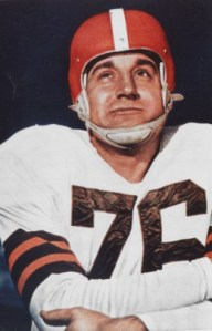 Lou Groza of the Cleveland Browns. Lou Groza - Cleveland Browns - File Photos (AP Photo/NFL Photos)