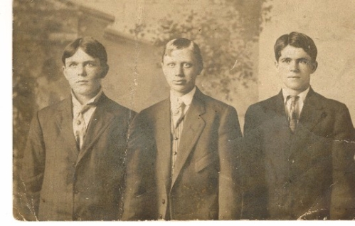 My grandfather, John Kerin, at far right about the time he became an iromolder apprentice at age fourteen in Mount Vernon, Ohio, 1907.