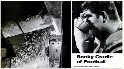 Photos from the Life Magazine article on Martin's Ferry football in 196x. Photo: Life Magazine/Ohio Valley Athletics