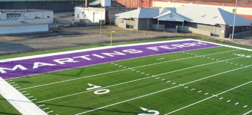The Martins Ferry football field in recent years. (Photo: Eleven Warriors).