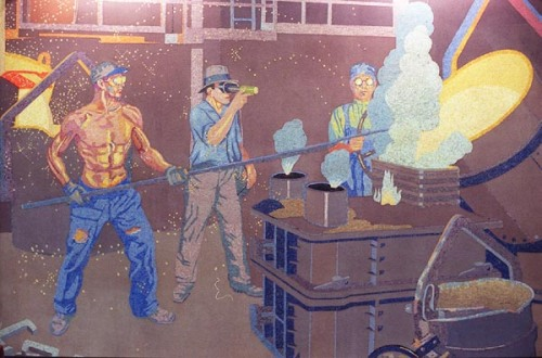 1930s Winold Reiss mural of foundry workers at the American Rolling Mills (ARMCO) plant in Middletown, Ohio. <> 1999.1228.05.1--made1--Murals at the Greater Cincinnati/Northern Kentucky International Airport depicting the history of business in Cincinnati. photo by Steven M. Herppich/Cincinnati Enquirer fp\b0\i0\fs10ÐÐÐÐÐÐÐÐÐÐÐÐÐÐÐÐÐÐÐÐÐÐÐÐÐÐÐÐÐÐÐÐ fp\i0\b\fs16Digital Collections/IPTC fp\b0\i0\fs10