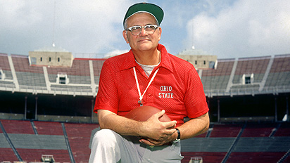 Coach Woody Hayes of Ohio State University.
