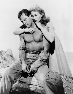 "Postwar steaminess: William Holden and Kim Novak in a publicity still for ""Picnic."""