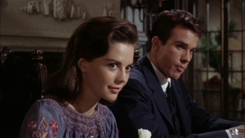 "Natalie Wood and Warren Beatty in ""Splendor In The Grass."""